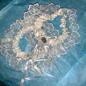 White garters for wedding